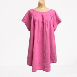 FREE PEOPLE PINK SWING DRESS POCKETS SIZE LARGE